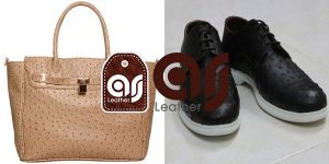 Shoes Ostrich Leather Natural
