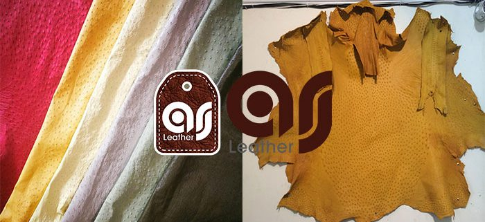 Natural Ostrich Leather