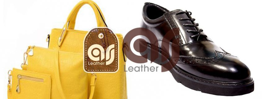 Genuine leather shoes and bag